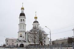 Wniebowzięcie kościół na bulwarze północny dvina Arkhangelsk Rosja obrazy stock