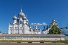 Wniebowzięcie katedra, Rostov, Rosja Zdjęcia Stock