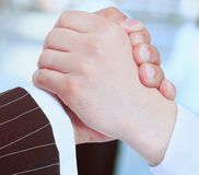 Wniosek transakcja handshake fotografia royalty free