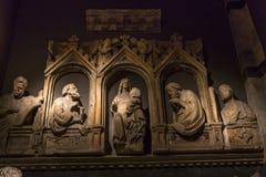 Wnętrza i szczegóły Siena katedra, Siena, Włochy Fotografia Stock