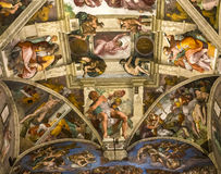 Wnętrza i szczegóły Sistine kaplica, watykan Obraz Stock