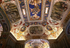 Wnętrza i szczegóły Watykański muzeum, watykan Obraz Stock