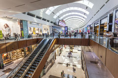 Wnętrze Dubaj centrum handlowe Obrazy Stock