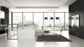 Wnętrze nowożytnego projekta loft Zdjęcie Royalty Free