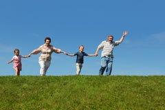 wnuków dziadków wzgórza bieg obraz stock