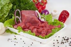 Wołowina gulaszu mięso zdjęcia royalty free
