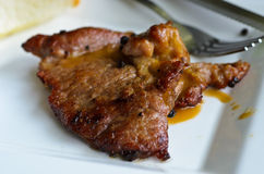 wołowina piec na grillu sałatkowy stek Obraz Stock