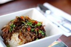 wołowina ryż Obrazy Royalty Free