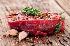 Wołowina stek. obrazy royalty free