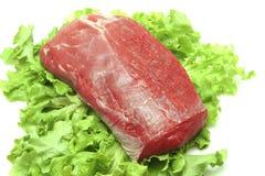 wołowiny świeża zielonego mięsa surowa sałatka Obrazy Royalty Free