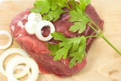 wołowiny świeżego mięsa warzywa Obrazy Royalty Free
