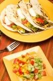 wołowiny fałdowy tacos tortilla Zdjęcia Stock