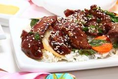 wołowiny japończyka teriyaki Zdjęcia Stock