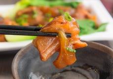 Wołowiny jedzenia Czuły Chiński styl Obrazy Stock