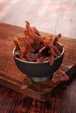 Wołowiny jerky tło zdjęcie stock