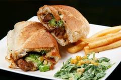 wołowiny kanapki stek fotografia stock