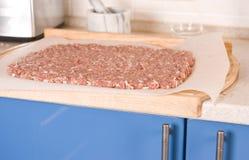 wołowiny kuchnia minced kołysanie się nad kołysanie się Zdjęcia Royalty Free