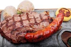 wołowiny mięso piec słuzyć stek fotografia stock