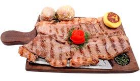 wołowiny mięso piec słuzyć stek zdjęcia stock