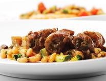 wołowiny naczynia mięsnej rolki gorący warzywa Obrazy Stock