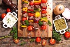 Wołowiny skewer grill fotografia royalty free