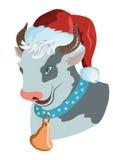 wołowy Santa Obraz Royalty Free