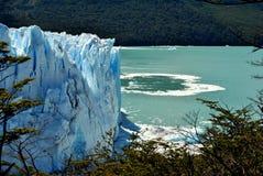 Wo der Gletscher beendet Lizenzfreie Stockbilder