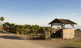 Wo die Sardinen auf Costa del Sol gebraten werden Stockfoto