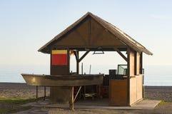 Wo die Sardinen auf Costa del Sol gebraten werden Stockbilder
