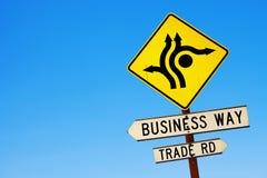 Wo Geschäft und Handel sich trifft Stockfotografie