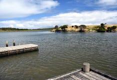 Wo Glenelg-Fluss- und Oxbow Seesitzung stockbilder