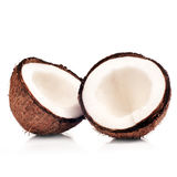 Wo halfs of coconut  Stock Images