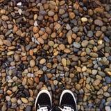 Wo ich stehe: Felsen Stockfoto