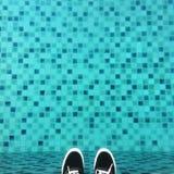 Wo ich stehe: Pixelpool Stockbild