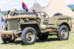 WO.II-Jeep Stock Fotografie