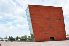 WO.II-museum gdansk polen Stock Afbeeldingen