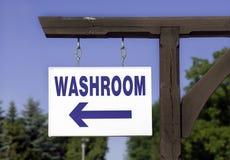 Wo ist der Waschraum? Stockfotos