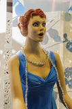 Wo-mannequin Surprise. Retro style female mannequin with wide-eyed expression of surprise. Great for creative captions Royalty Free Stock Photos