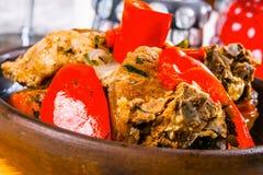 Wołowina gulasz z warzywami Zdjęcia Stock