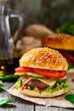 Wołowina hamburger Zdjęcia Stock