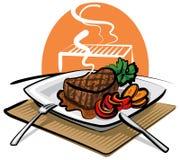 wołowina piec na grillu stek Obrazy Royalty Free
