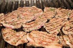 Wołowina stek na grillu zdjęcie royalty free