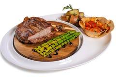 Wołowina stek z garnirunkiem Obraz Royalty Free