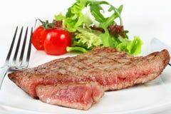 Wołowina stek z warzywami Zdjęcia Royalty Free