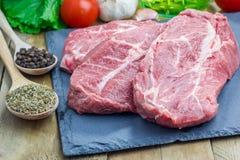 wołowina surowy stek Fotografia Stock