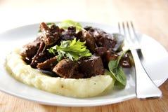 wołowiny bourguignon Zdjęcie Stock