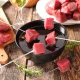 Wołowiny fondue Zdjęcia Royalty Free