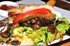 wołowiny kanapka Zdjęcia Royalty Free