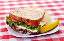 wołowiny pieczeni kanapka Zdjęcie Stock