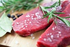 wołowiny rozmarynów soli morze Obraz Royalty Free